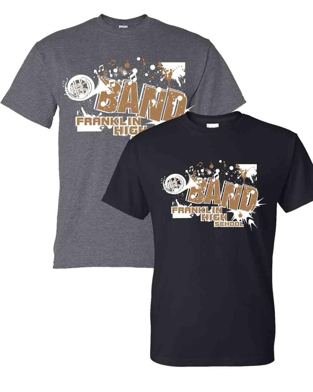 Music department spirit wear franklin high school band for High school band shirts