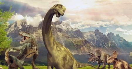 Ilustrasi Dinosaurus Leher Panjang