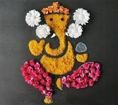 Freestyle Rangoli Design For Ganesh Chaturthi