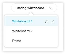 Sharing a whiteboard