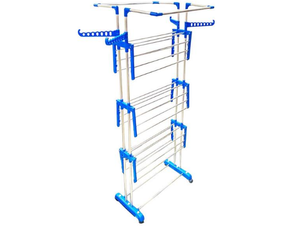 TNC Lifetime Use Rust Proof Strong And Rigid Heavy Double Poll Stainless Steel Cloth Dryer Stand