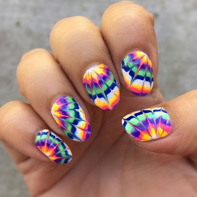 Tie-Dye Nail Arts