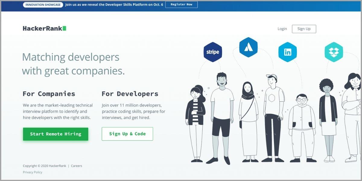 hackerrank homepage