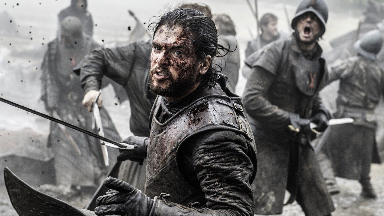 jon snow, kit harrington em cena de game of thrones