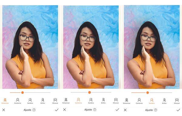 menina asiática posando para a camera sendo editada pelo AirBrush