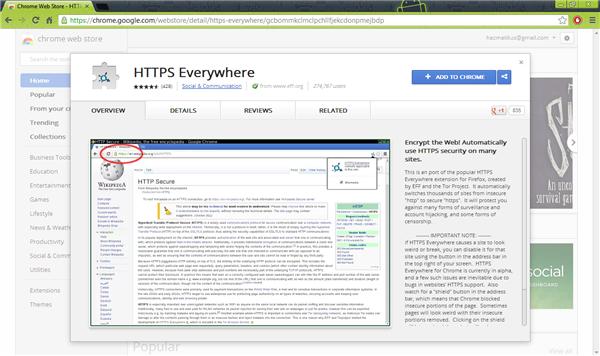 Install HTTPS Everywhere on Google Chrome
