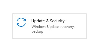The Update & Security tile in Settings