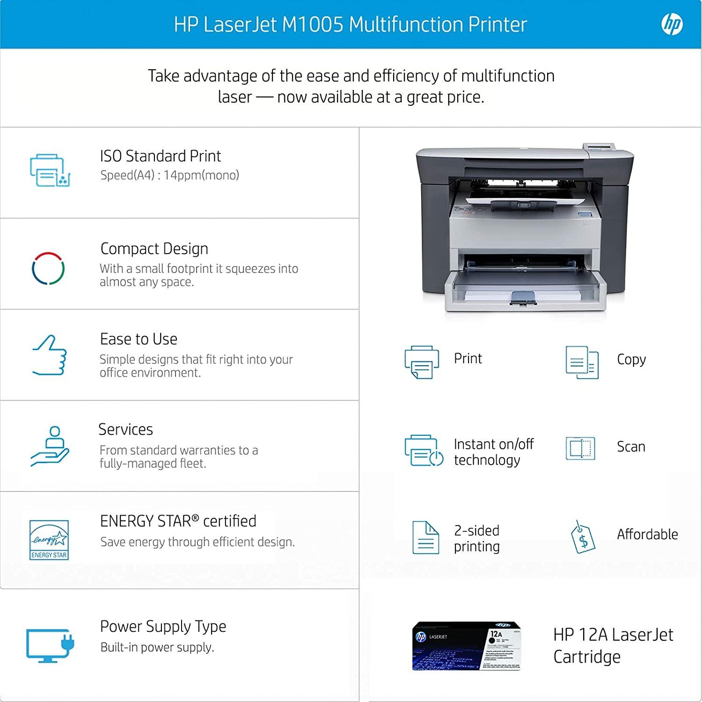 Especificaciones de impresora HP M1005