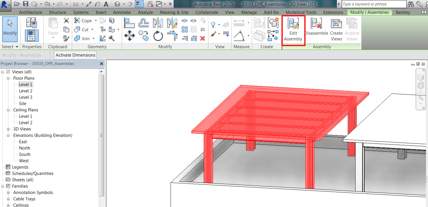 Assemblies and Parts - Operation in Revit - Modelical