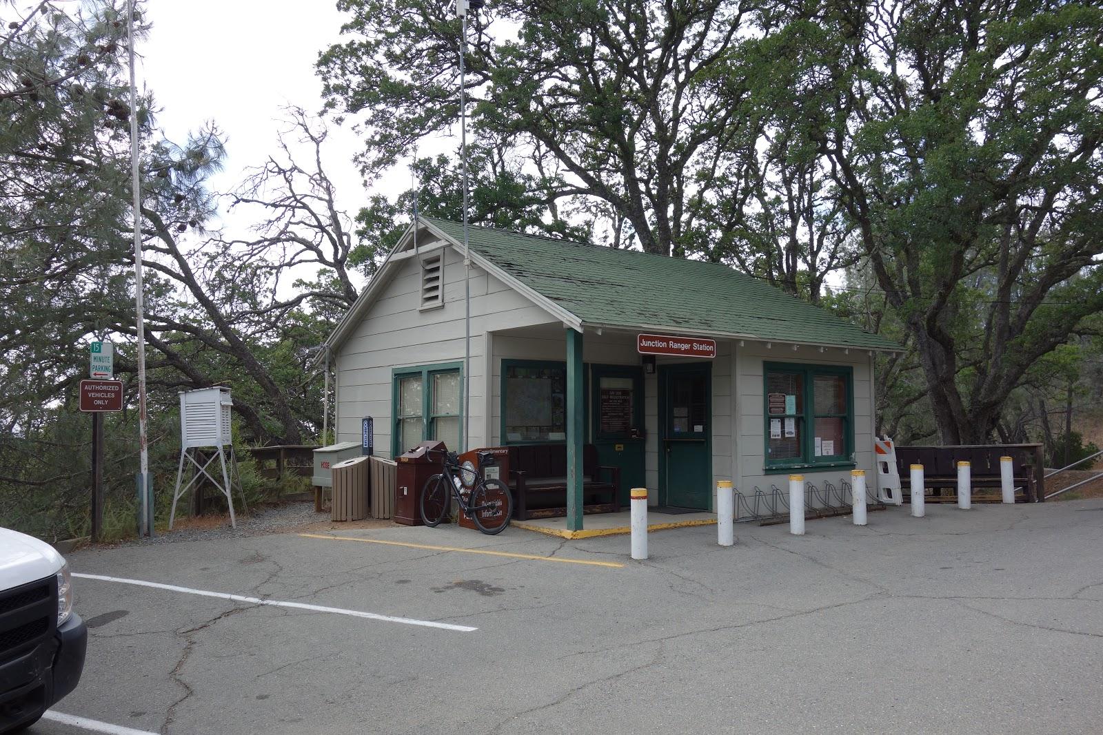 Bicycle ride Mt. Diablo - front of Junction Ranger Station