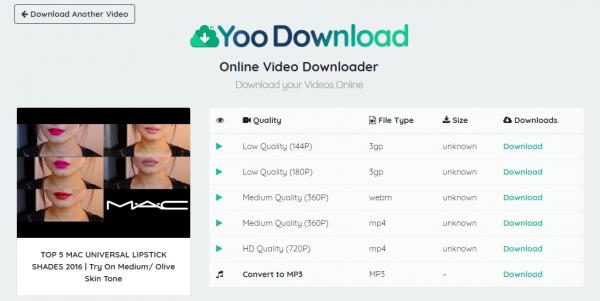 تنزيل يوتيوب للجوال من خلال موقع Yoo Download