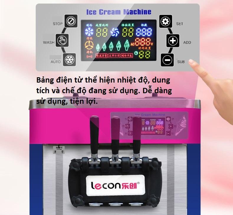 Máy làm kem Lecon tự động - ảnh 3
