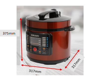 Hiraki 6L electric pressure cooker. Source: Hiraki