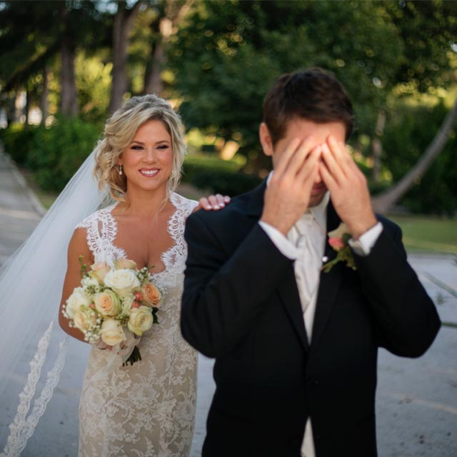 bride surprises groom