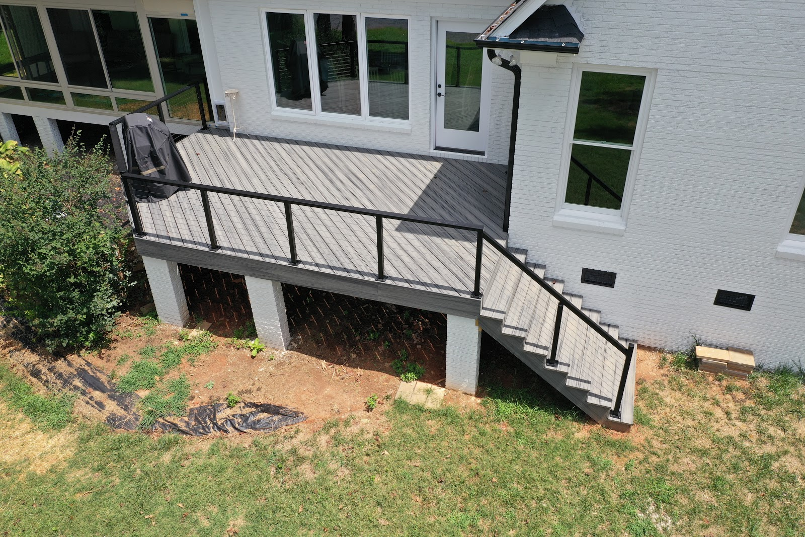 exterior overview of outdoor concrete and metal deck
