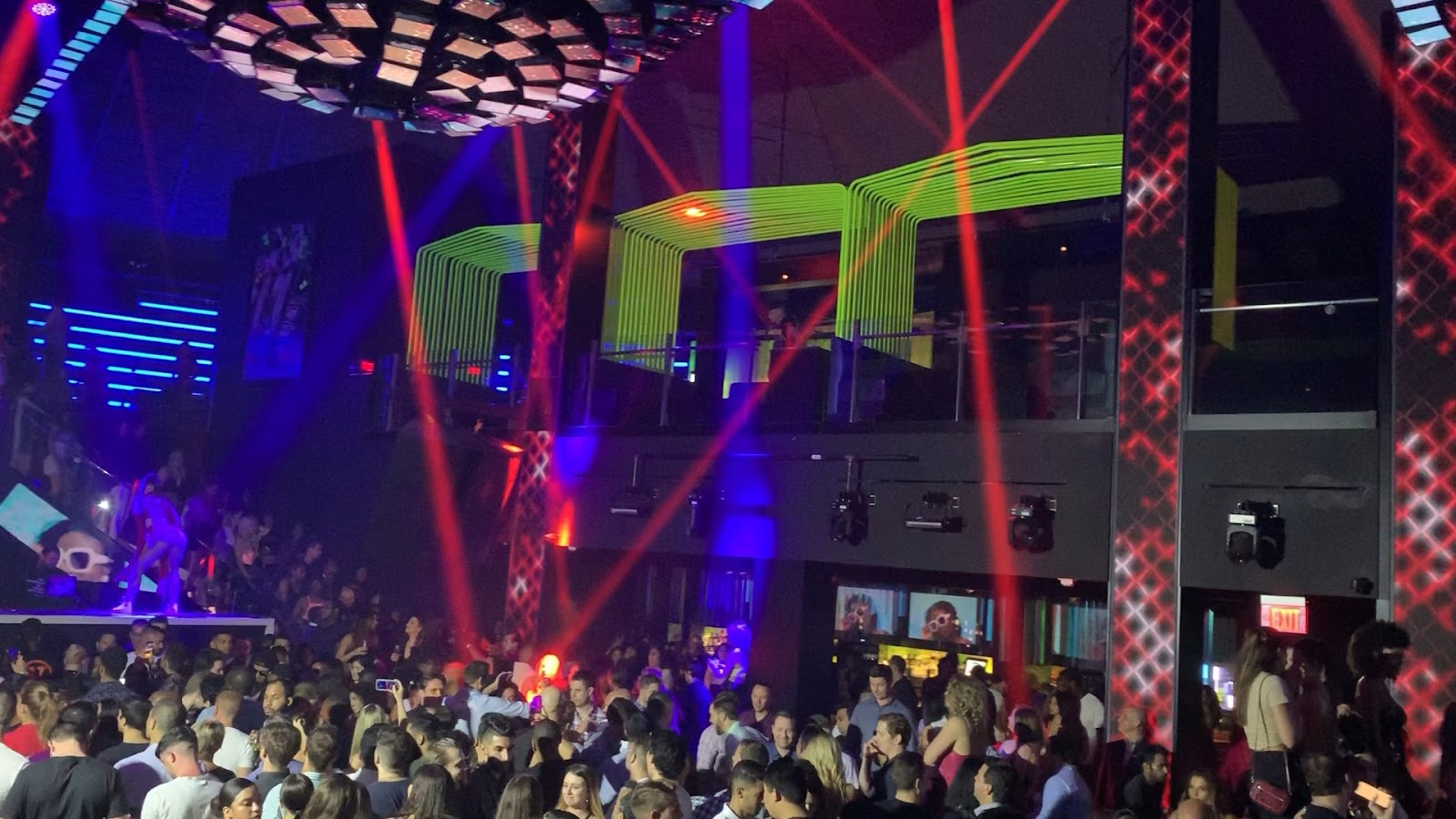 Miami Beach VIP LIV Nightclub Red Lasers