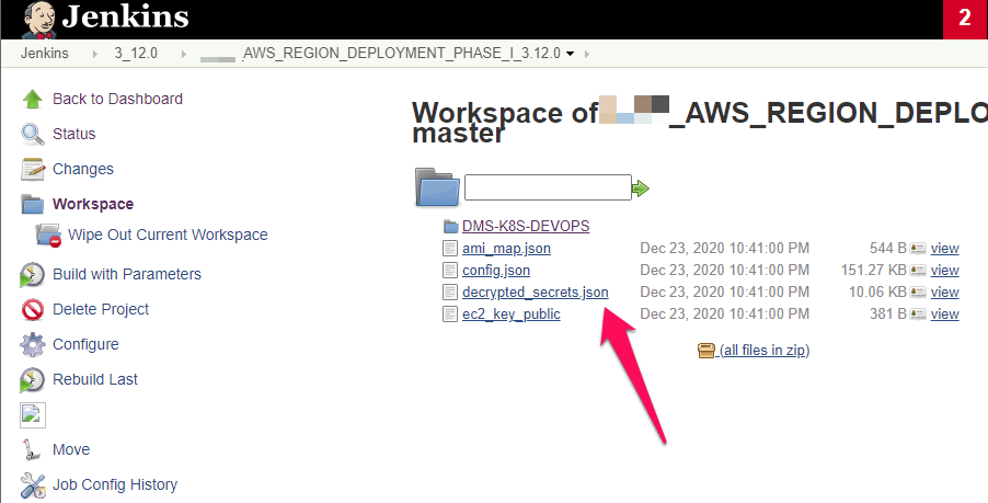 Workspace screenshot on the Jenkins server shows a compromised decrypted secrets folder found by White Oak Security's pentesters
