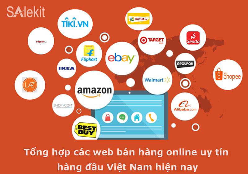 Tổng hợp Web bán hàng online uy tín tại Việt Nam