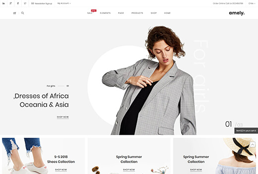 Sport magento theme amely