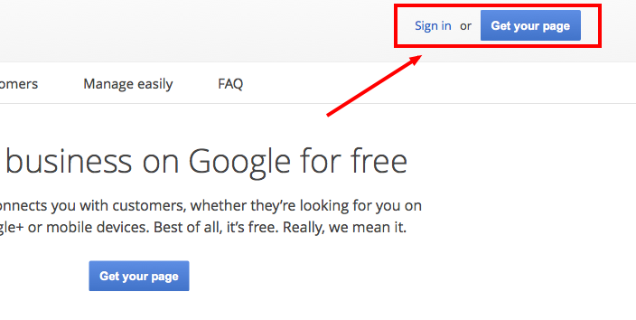 google local sign up