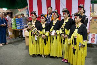 北竜町盆踊り大会2014・団体準優勝:韓国舞踊(新十津川町)
