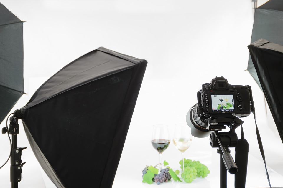 Professional photo shoot of a wine item for an online store