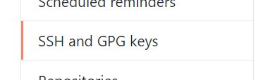 SSH and GPG keys