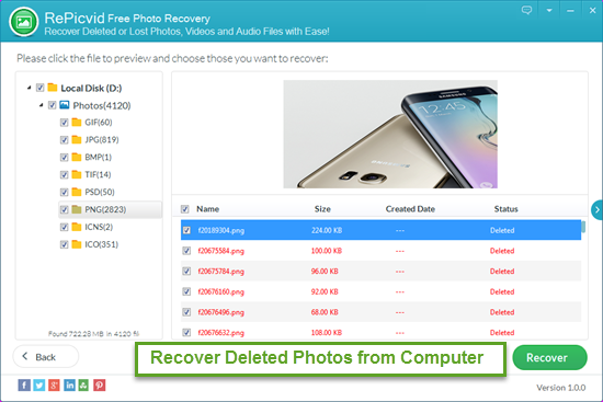 Preview and Recover Deleted Photos