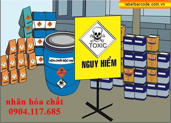 nhãn cảnh báo hóa chất độc hại