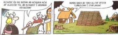 Miðað við stærð hússins þá eru þetta allt of lítið hoggið fyrir Atlatungu!