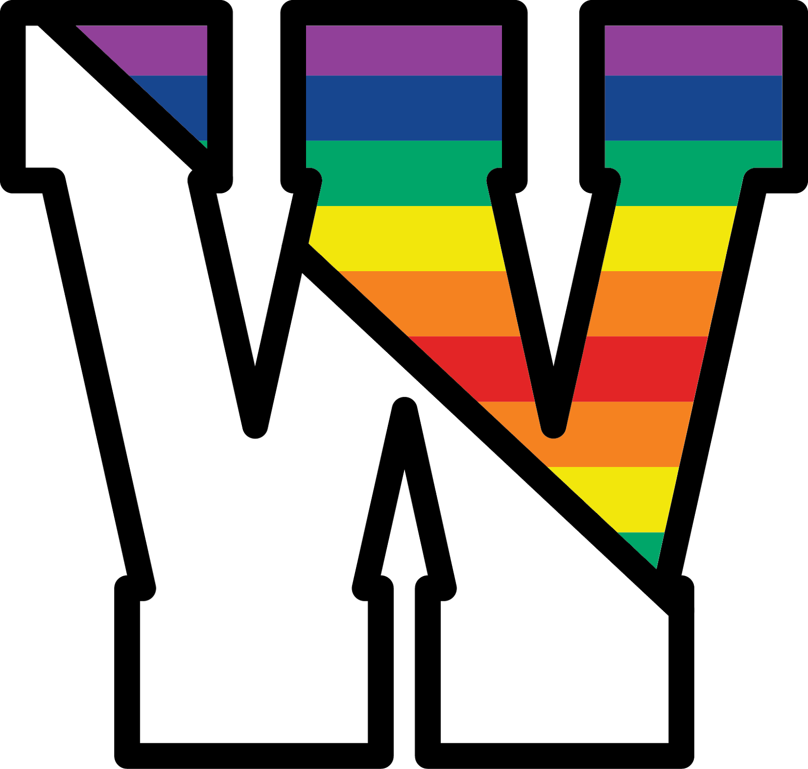 Westwood Logo W with rainbow colors