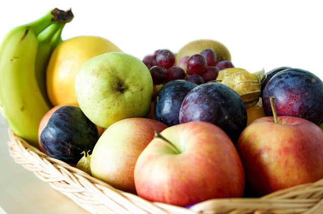 Fruit, Basket, Banana, Apple,