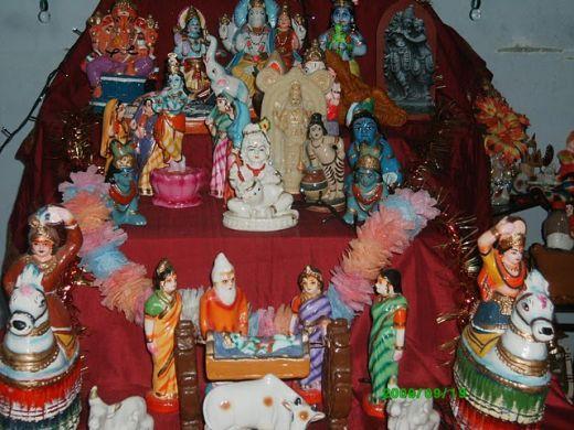 A typical Golu - display of dolls