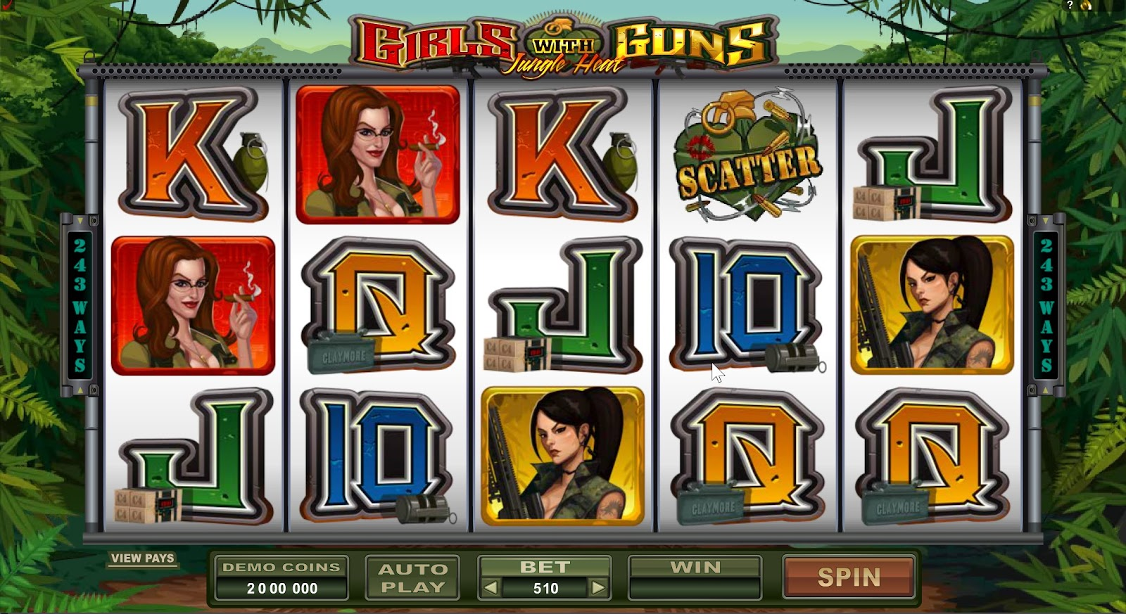 Girls With Guns: Jungle  Heat Slots Game Review