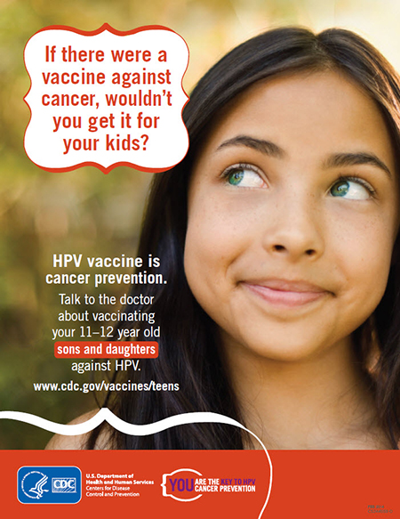 HPV vaccine is cancer prevention (limit 5 per order)