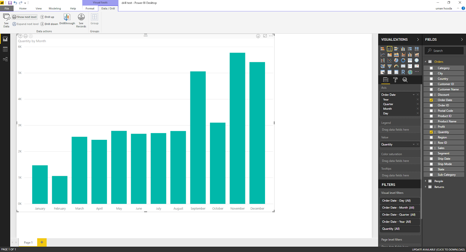 Drill In / Out on Your Data For Different Dates In Microsoft Power BI 44