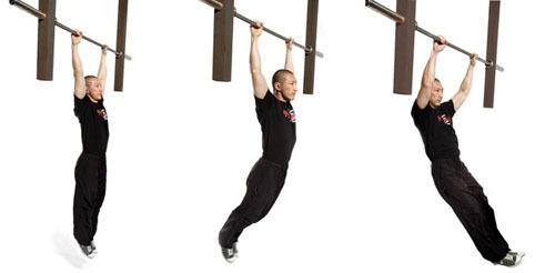 Động tác văng người với xà đơn tạo tập trung vào cơ xô, cơ vai, lưng và tăng chiều cao hữu hiệu