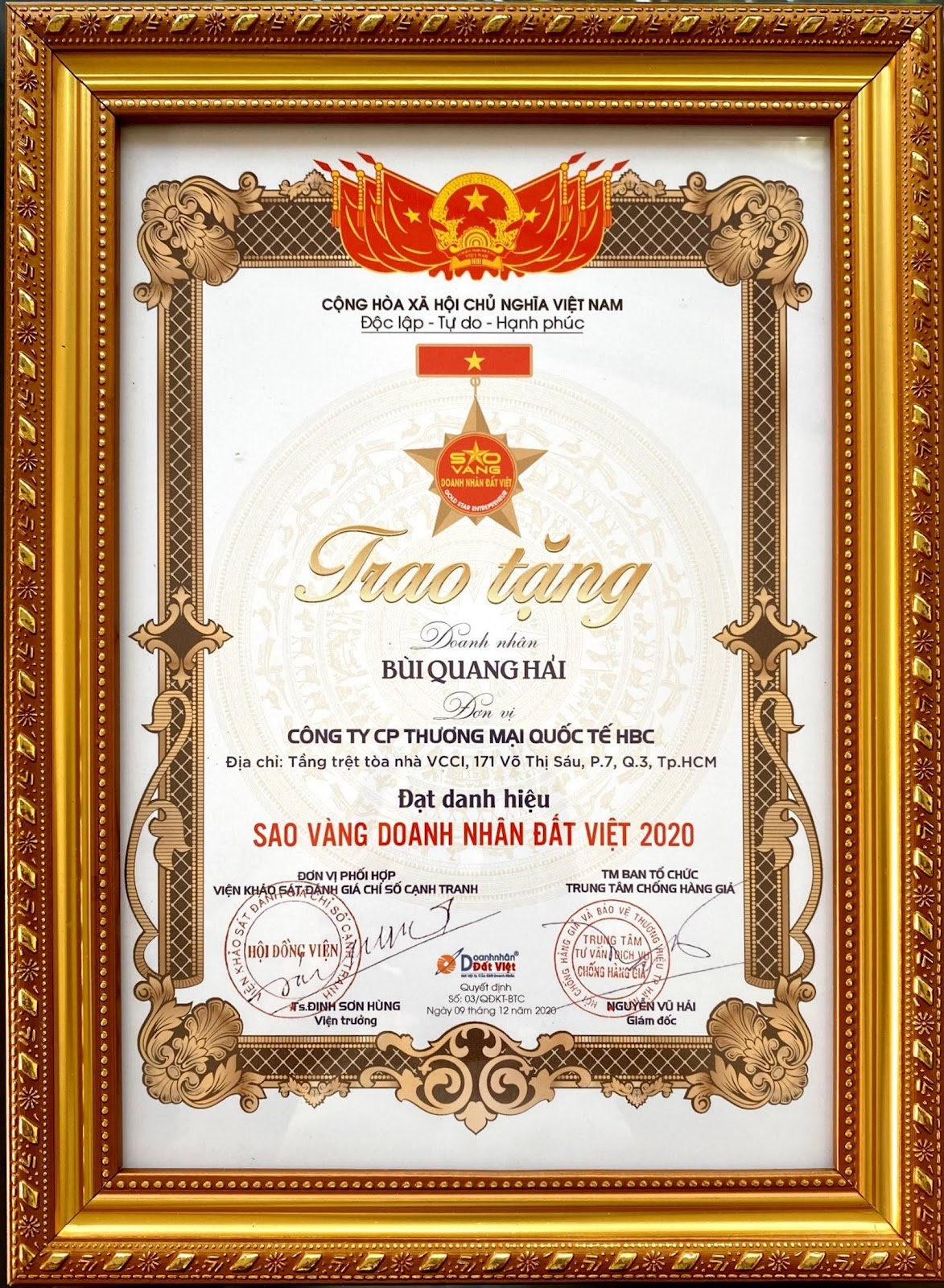 """Doanh nhân Bùi Quang Hải công ty CP TMQT HBC trong kinh doanh """"thách thức tạo nên bứt phá - Ảnh 5"""