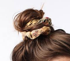 Image result for scrunchie in a bun