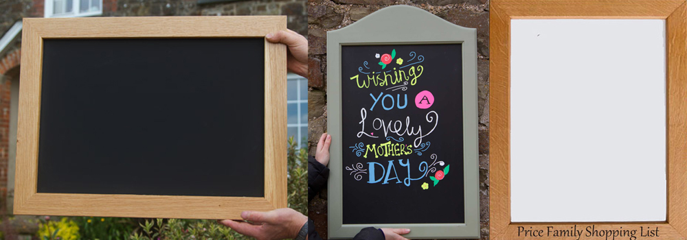 Bespoke crafted chalk boards and white boards are a great addition to any home and home pubs.