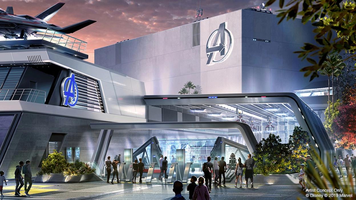 Disneyland's new ride Avengers Campus