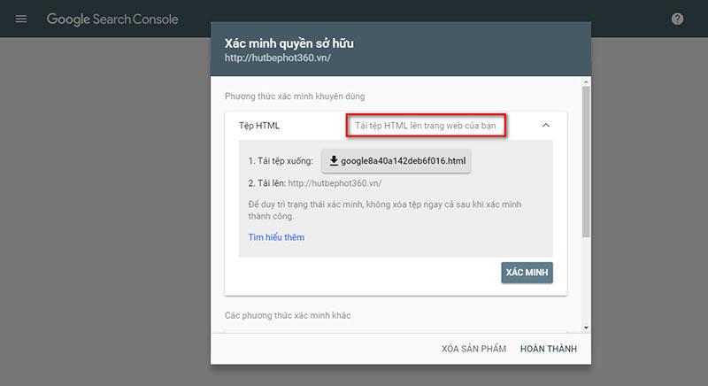 Hướng dẫn cài đặt Google Webmaster Tools-3