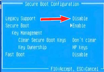 Reboot and Select Proper Boot Device,Disable Legacy Mode