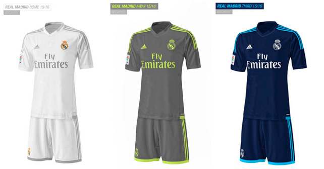brand new 85ca1 a63d8 Real Madrid 2015-16 Home Away Kits Released (Third Leaked)