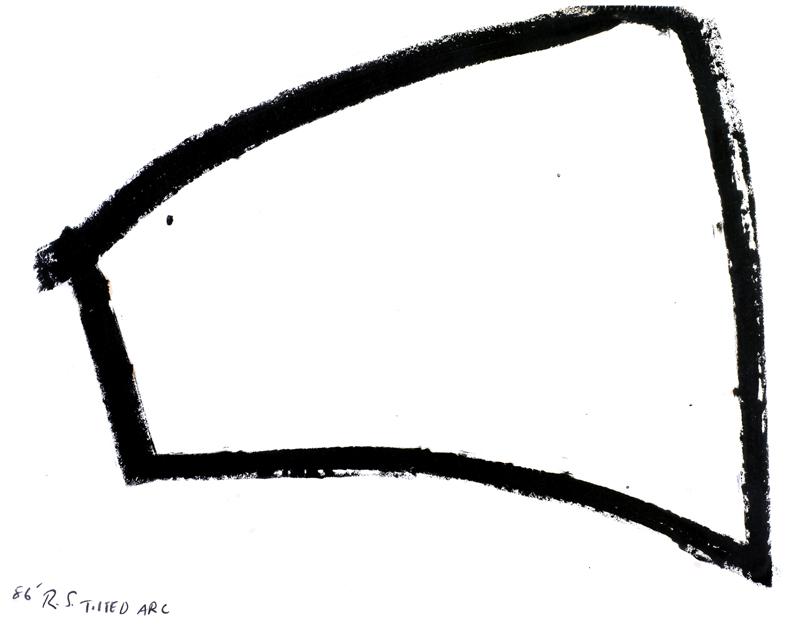 "Richard Serra, ""Tiltled Arc '86"" drawing."