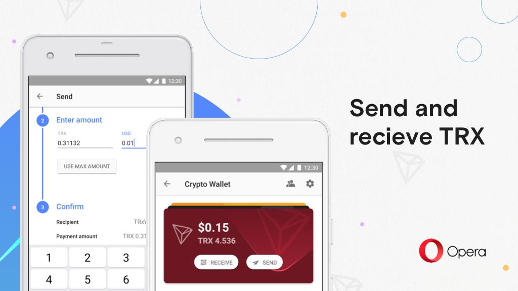 Crypto Wall ของ Opera เวอร์ชั่น Android รองรับ Bitcoin และโทเคนมาตรฐาน Tron แล้ว