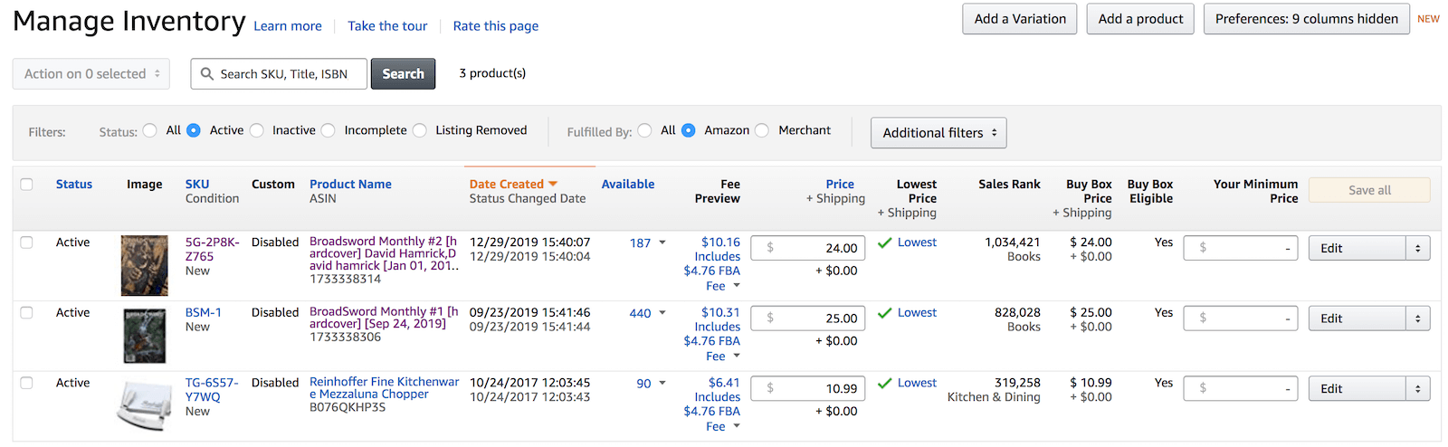 Buy Box eligibility screenshot