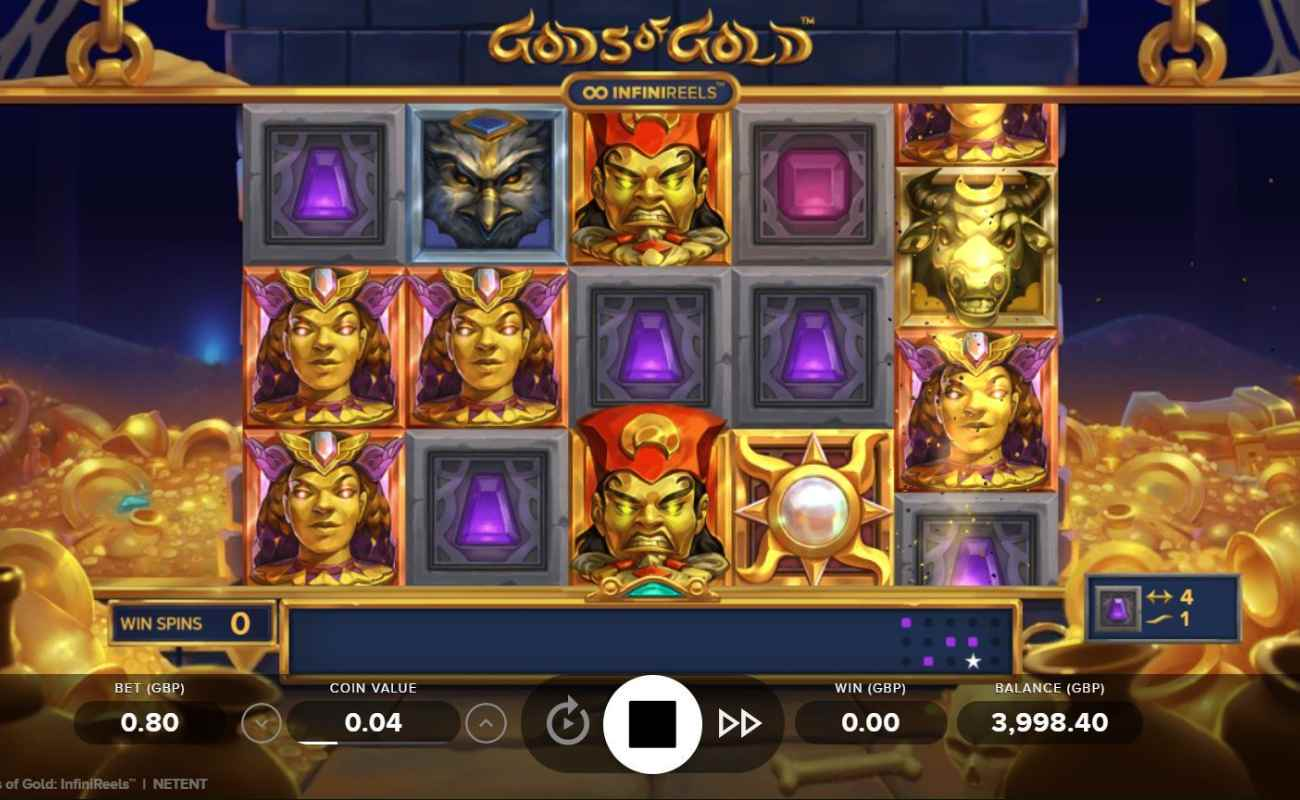 Gods of Gold: InfiniReels by NetEnt online slot casino game