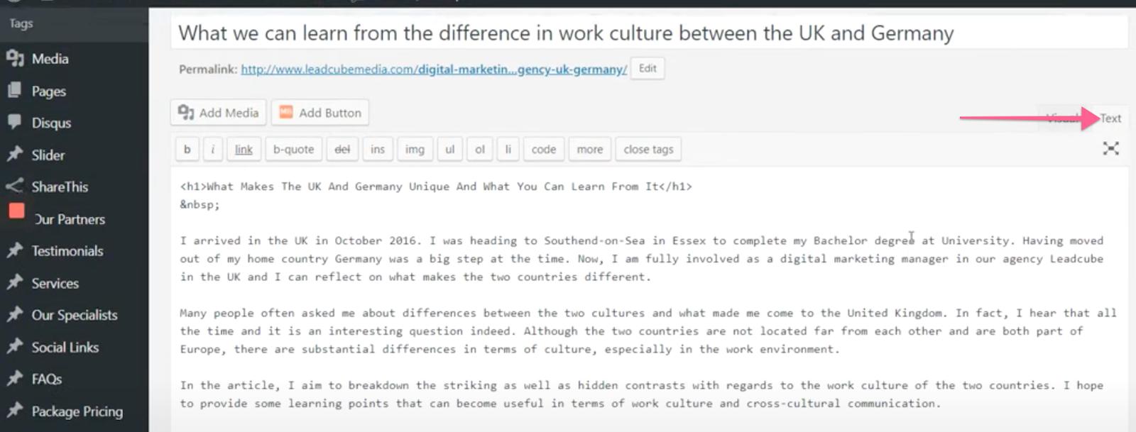 Embed LeadGen forms inside WordPress