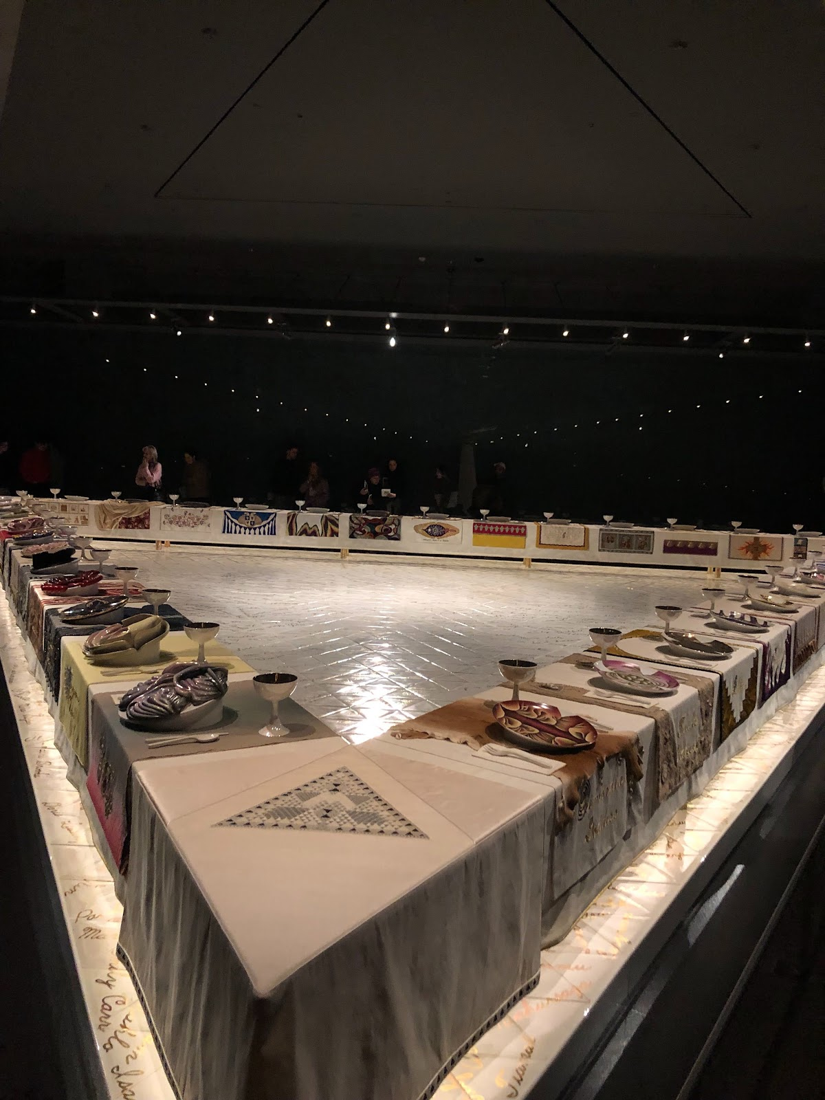 A celebration of vaginas, a pic from my recent trip to the Brooklyn Museum exhibit for Judy Chicago's Dinner Party